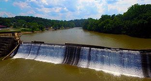 Photo of Schoolfield Dam