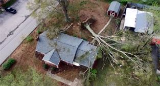 Photo of house in Danville damaged by tornado