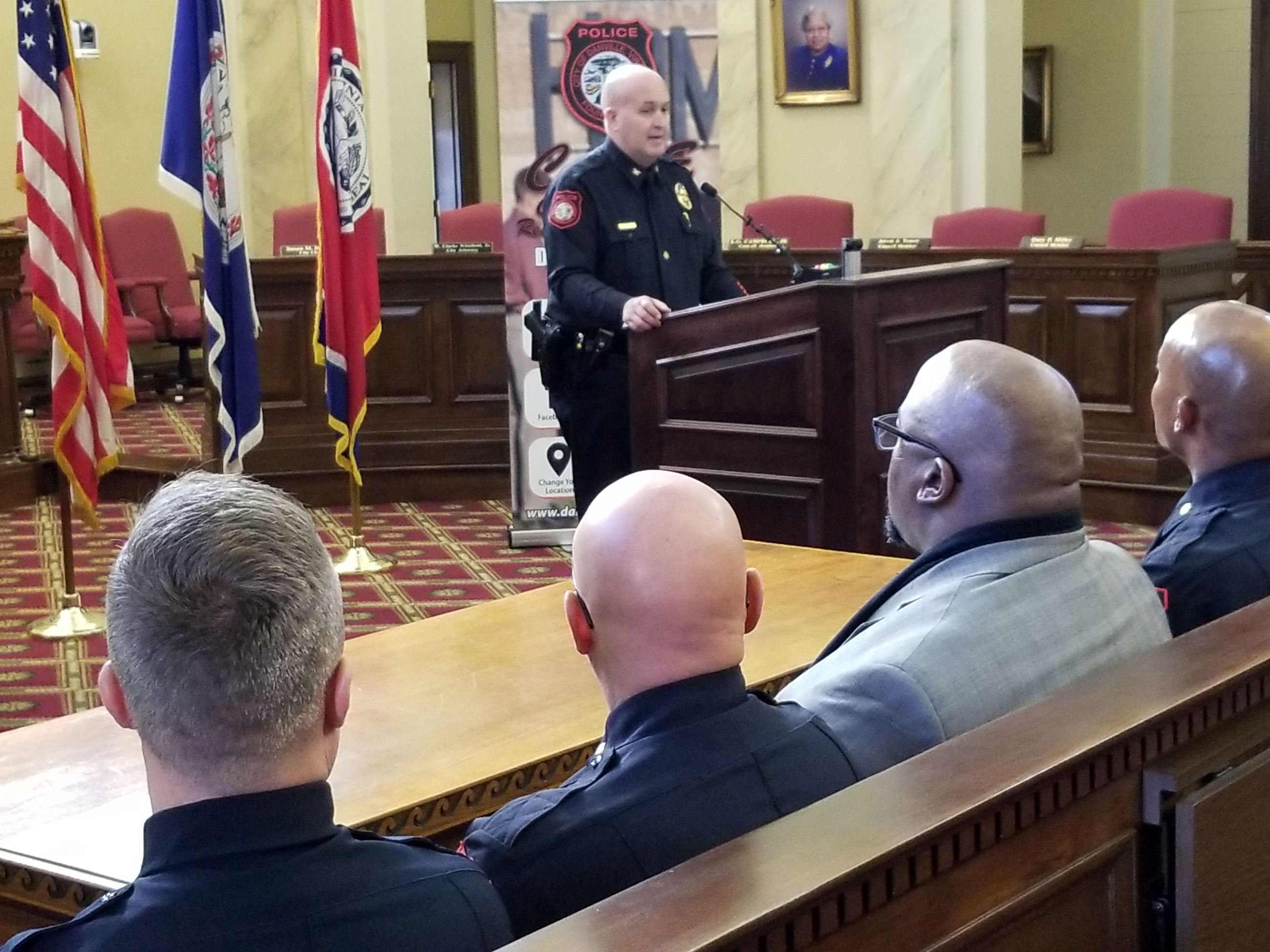 Police Chief Booth speaks at Jan. 23, 2020, news conference