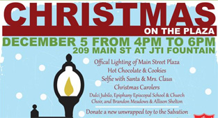 Christmas on the Plaza flyer