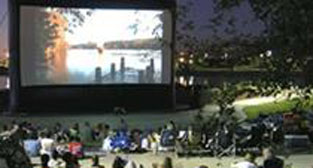 Big outdoor movie screen