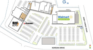 Nor-Dan Shopping Center site plan