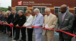 Ribbon cutting for Gene Haas Center for Integrated Machining