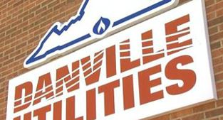 Danville Utilities sign on building