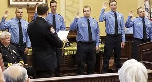 Firefighters take oath