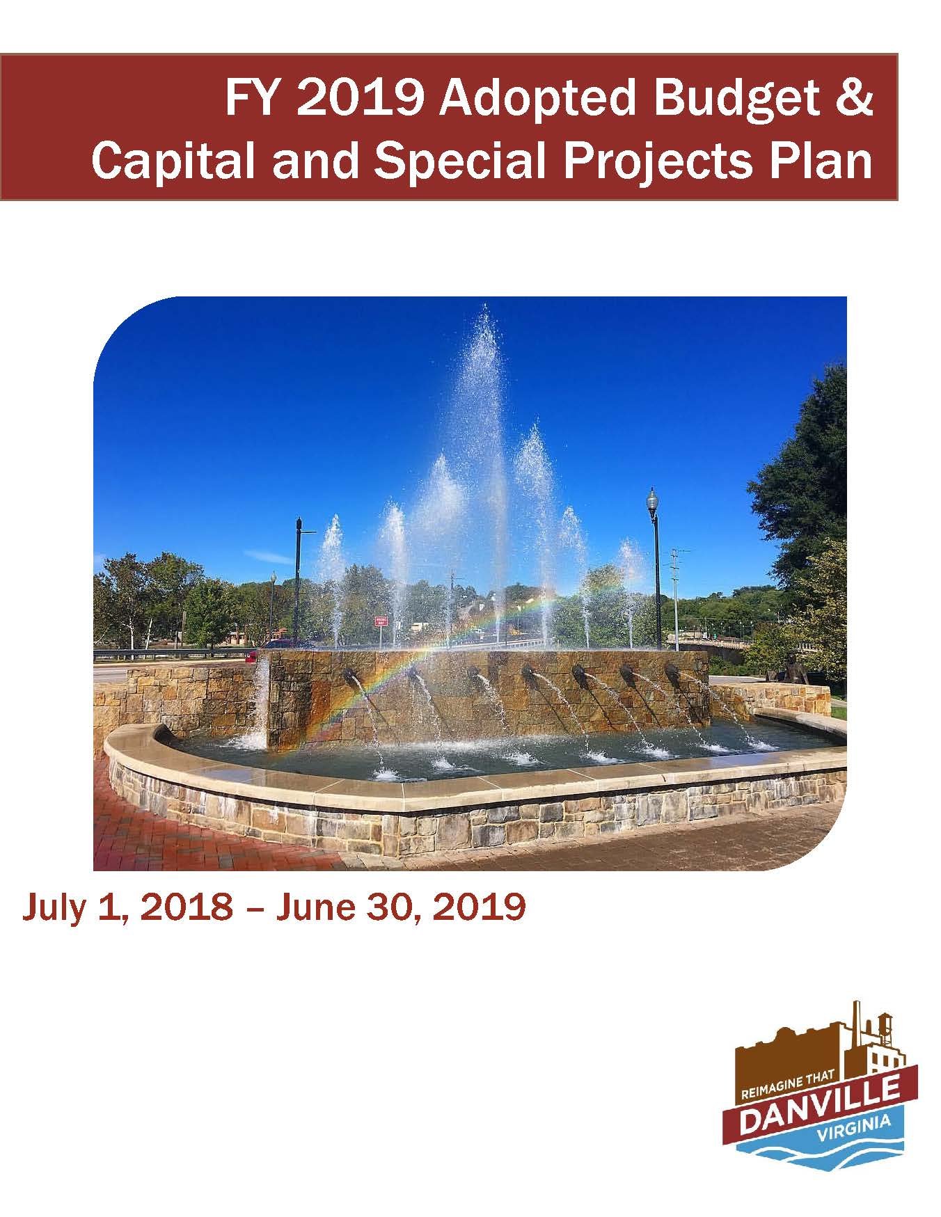 FY 2019 Adopted Budget Cover Page