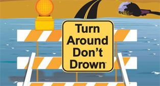 Turn around, don't drown graphic