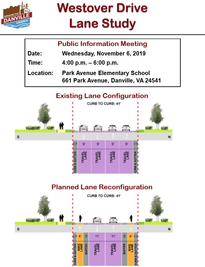 Flyer - Proposed Westover Drive lane reconfiguration
